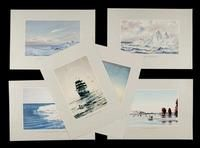 Facsimile Reproductions of Antarctic watercolours by Edward Wilson. Set B