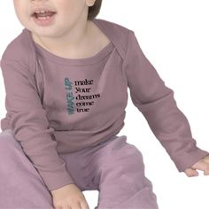 Wake Up Infant Long Sleeve Tshirts