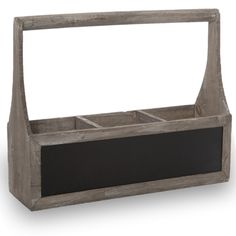 Wooden Rect Three Compartment Planter with Handle - Antique Grey Lucky Clover Trading is a wholesale baskets distributor and importer of baskets wholesale through a wholesale gift basket suppplies company. Fabric Storage Boxes, Fabric Boxes, Storage Sets, Under Bed Storage, Cube Storage, Wood Crates, Wood Boxes, Rattan Basket, Wooden Basket