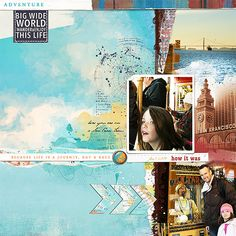 San Fran Tram, using The Way It Is template, Blue Skies Ahead papers and Adventure Calls Kit by Lynn Grieveson at The Lilypad #digitalscrapbooking