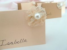Escort cards / Place cards