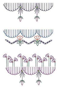 Seam embellishment stitch combination 10 11 12