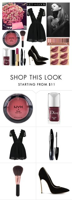"""""""Roses ♡"""" by shanelle-khl ❤ liked on Polyvore featuring beauty, NYX, Christian Dior, Urban Decay, Lancôme, Elizabeth Arden and Casadei"""