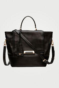 DVF | 440 top handle small satchel in black, Resort 2012/13: Zoom