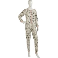 These ladies super soft fleece onesies have a black and white cow print design throughout with pink detail and would make a lovely addition to your nightwear this season.