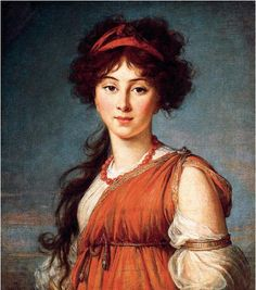 Varvara Ivanovna Ladomirsky, later Narychkin, by Élisabeth Vigée Le Brun (16 April 1755 – 30 March 1842)  c. 1800  Oil on canvas, 63.5 x 54.5 cm,25 x 21 3/4 in  Columbus Museum of Art