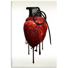 Cortesi Home is proud to present 'Heart Grenade' by Nicklas Gustafsson. Digital photomanipulation featuring a bleeding hand-grenade heart. Nicklas Gustafsson is a graphic designer and a photographer f Art Amour, Creation Art, Poses References, Anatomical Heart, Arte Horror, Foto Art, Gcse Art, Canvas Wall Art, Graphic Art