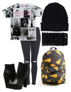 """""""×bored af×"""" by futuremrsclifford ❤ liked on Polyvore featuring Topshop, Steve Madden, Lands' End and Moschino"""