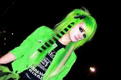Green scene hair , www. - Green scene hair , www.hairstyles-ha… The Effective Pictures We Offer You About green hair A qua - Black Scene Hair, Medium Scene Hair, Short Scene Hair, Indie Scene Hair, Scene Bangs, Emo Hair, Emo Scene, Hair Medium, Gothic Fashion