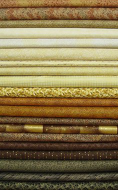 Neutral Metallic Fabric Strips - cream, ivory, gold, brown, and black... all with gold metallic accents! How much more elegant could it get?
