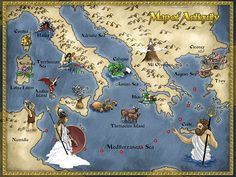 Cool webquest to go with The Odyssey - it asks students to journal and map out… Mythology Books, Greek Mythology, Cartoon Cartoon, Greek History, Ancient History, Black Ships Before Troy, Homer Odyssey, Visual Thinking, Cultura General