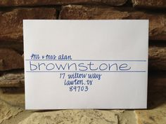 Wedding Invitation Addressing - Handwritten Envelopes - Brownstone on Etsy, $1.75
