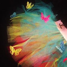 Neon Butterfly Adult Tutu Fairy Costume Spring by tutufactory, $23.50