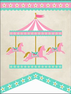 vintage carousel Carousel Birthday Parties, Carousel Party, Carnival Themed Party, Circus Party, Party Themes, Ben Y Holly, Diy And Crafts, Paper Crafts, Send In The Clowns