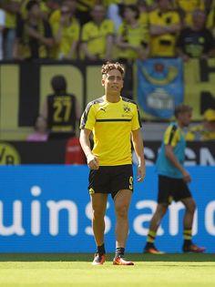 Borussia Dortmund's Emre Mor is seen before Bundesliga soccer match between Borussia Dortmund and FSV Mainz 05 at the SignalIduna stadium in Dortmund...