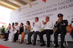 Javier Duarte de Ochoa aprovechó para agradecer igualmente el invaluable apoyo otorgado en esos momentos por el Ejército Mexicano y la Armada de México