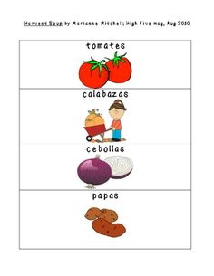 Spanish Phrases: Harvest Soup from tjnd30 on TeachersNotebook.com -  (2 pages)  - Spanish vocabulary