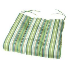 Cushion Source 19 X 18 In. Striped Tufted Sunbrella Chair Cushion    UXSNV 56001