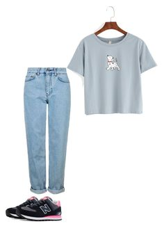 """""""Untitled #25"""" by georgia-marcellus on Polyvore featuring New Balance and Topshop"""
