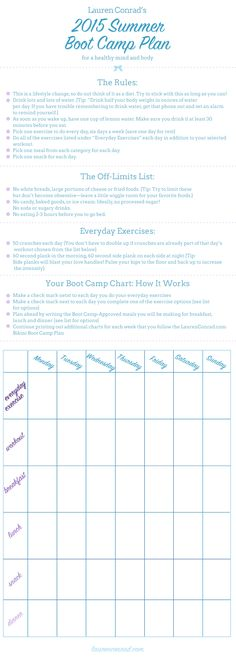 Get Fit: The 2015 LaurenConrad.com Summer Boot Camp Plan
