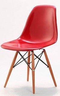 Charles & Ray Eames Style Style DSW Eiffel Dining Lounge Chair (Red): Amazon.co.uk: Kitchen & Home