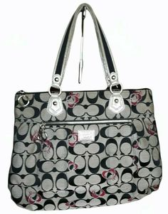 Coach Of The Year, Coach Poppy, Black Canvas, Poppies, Michael Kors, Shoulder Bag, Tote Bag, Grey, Best Deals