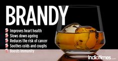Brandy has many health benefits such as strengthening of the immune system, reduces respiratory issues, control weight issues, improve sleep patterns, For Your Health, Health And Wellness, Health Tips, Health Benefits Of Alcohol, Home Teeth Whitening Kit, Remedies For Tooth Ache, After Dinner Drinks, Boost Immune System, Reduce Inflammation