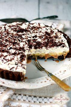 Tarta czekoladowo-kajmakowa z karmelizowanymi bananami / chocolate banoffee pie Tiramisu, Cooking Recipes, Sweets, Cake, Ethnic Recipes, Desserts, Food, Kitchen, Pie Cake