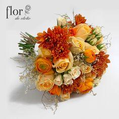Bouquet en tonos naranja.