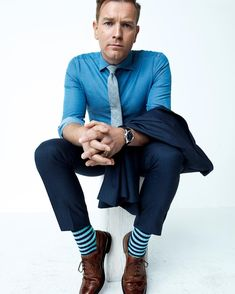 What To Wear Today: Striped socks and lace-ups. ( @peggysirota) #WTWT #OOTD by gq