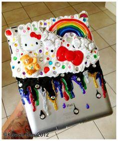 Cute Care Bears Custom iPad 2&3 Decoden Case by KawaiiDen on Etsy, $25.00 #decoden