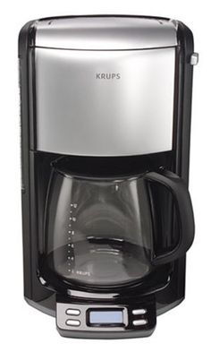 KRUPS Programmable Coffee Maker with Glass Carafe and LED Control panel, Black and Stainless Steel >>> Quickly view this special product, click the image : Coffee Maker Espresso Machine Reviews, Coffee Maker Reviews, Espresso Maker, Krups Coffee Maker, Best Drip Coffee Maker, Coffee Shop Bar, Coffee Store, Coffee Making Machine, Coffee Machines
