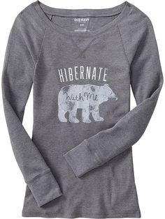 Women's Waffle-Knit Graphic Tees | Old Navy