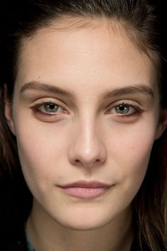 """Date-Night Makeup Idea: Thakoon's Lower-Lash Liner For an """"it took me only five minutes to look this good"""" style, use chocolate brown liner on the lower lash line only. Kendal, the lead makeup artist at Thakoon, used Nars Mambo eyeliner pencil, smudging it a bit to reinforce the effortless vibe."""