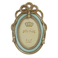 Κορνίζα Classic Χρυσό-Γαλάζιο (small)