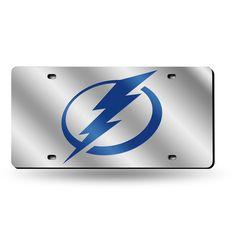 tampa bay lightning nhl laser cut license plate tag