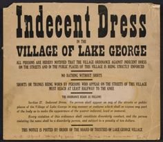 Citation: Notice of dress code in Lake George, N.Y., given to Elizabeth McCausland by Alfred Stieglitz, not before 1931. Elizabeth McCauslan...
