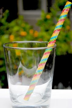 How to make cute and edible straws!
