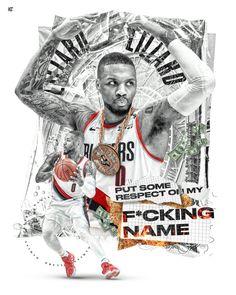 Damian Lillard, Basketball Art, Basketball Players, Soccer, Nba Pictures, Speed Art, Nba Wallpapers, Portland Trailblazers, Nba Players