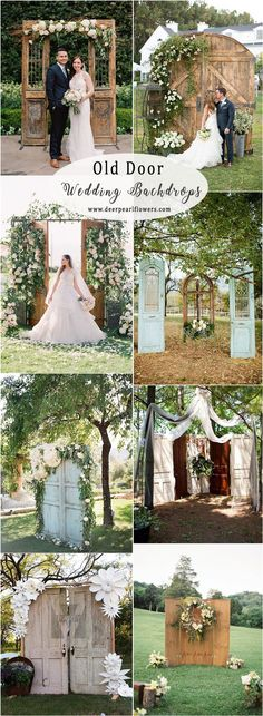 old door wedding backdrops