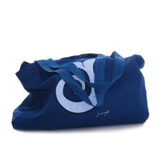 BORSA MARE IN COTONE Beach Blue borsa