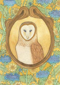 art nouveau | Illustration dust: An Art Nouveau Owl