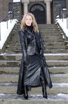 Long Leather Coat Mistresses