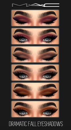 Sims 4 CC's - The Best: Dramatic Fall Eye-shadows by MAC (Best Eyeshadow)
