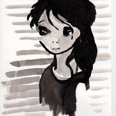 Portrait a4-enfant-noir et blanc-affiche-vintage-décoration-portrait personnalisé