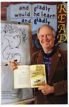 steven kellogg, author and/or illustrator of books like Island of the Skog & The Day Jimmy's Boa Ate the Wash. if you haven't read them, you need to! if you  haven't met him, you need to! our kids did when he visited their elem school years ago. a generous, gifted man.