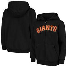 Youth Black San Francisco Giants Team Color Wordmark Full-Zip Hoodie, Boy's, Size: Y Mlb Merchandise, Giants Team, San Francisco Giants, Full Zip Hoodie, Hoodies, Sweatshirts, Suits For Women, Black Hoodie, Youth