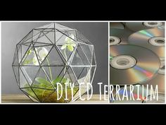 """This is another """"DIY Dupes"""" video, where I'm going . Recycled Cd Crafts, Old Cd Crafts, Recycled Glass, Cd Diy, Terrarium Diy, Diy Recycle, Diy Home Decor Projects, Mason Jar Crafts, Diy Birthday"""