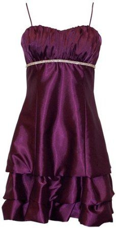 Amazon.com: Satin Bubble Mini Dress Prom Formal Holiday Party Cocktail Gown Bridesmaid: Clothing