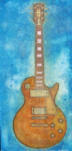 """Gibson Les Paul Custom 24"""" x 48"""", oil on canvas"""